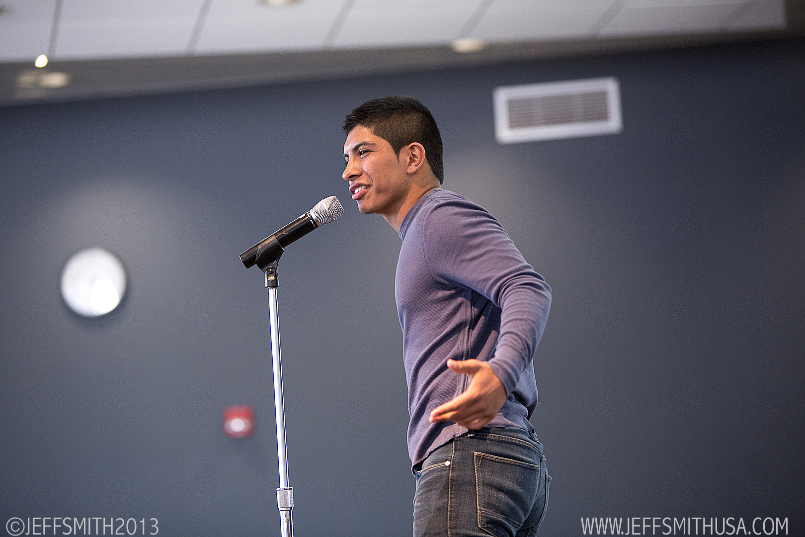 Student performs during Poetry Out Loud