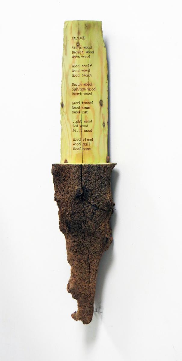 "Wood sculpture of ""Salvage"""